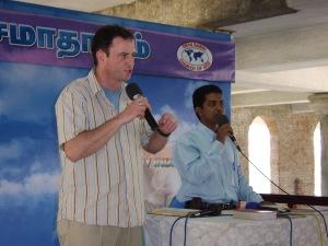 Me preaching through an interpreter